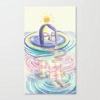 keep calm Canvas Prints featuring keep calm by mloyan