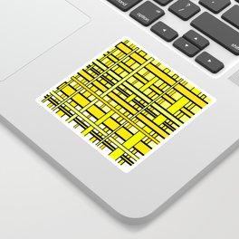 Yellow grid Sticker