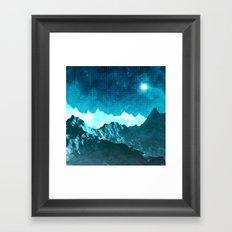 Outer Space Mountains Framed Art Print