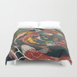 Ukiyo-e tale: The creative circle Duvet Cover