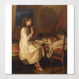 Seymour Joseph Guy 1824-1910 STORY OF GOLDEN LOCKS Canvas Print