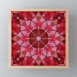 Red autumn leaves kaleidoscope - Cranberrybush Viburnum Framed Mini Art Print