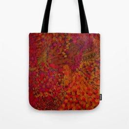 Crimson Watercolor Painting Tote Bag
