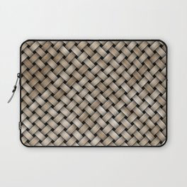 Wooden woven texture Laptop Sleeve