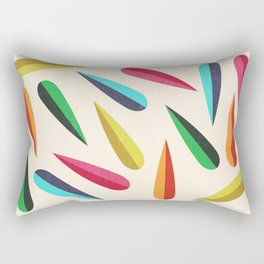 Feathers II Cascading Colors Rectangular Pillow