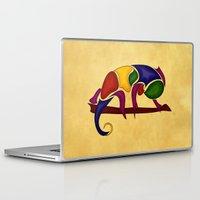 chameleon Laptop & iPad Skins featuring Chameleon by Aleksandra Mikolajczak
