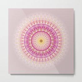 Pink Gold Mandala Metal Print