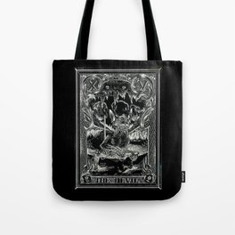 THE DEVIL of Tarot Cats Tote Bag
