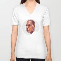 jay z V-neck T-shirts featuring JAY-Z by nachodraws