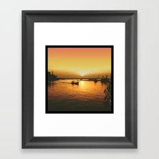 Sunset Haven Framed Art Print