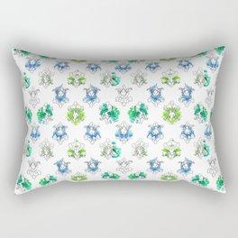 Sherlock Rorschach Wallpaper Lilies Rectangular Pillow