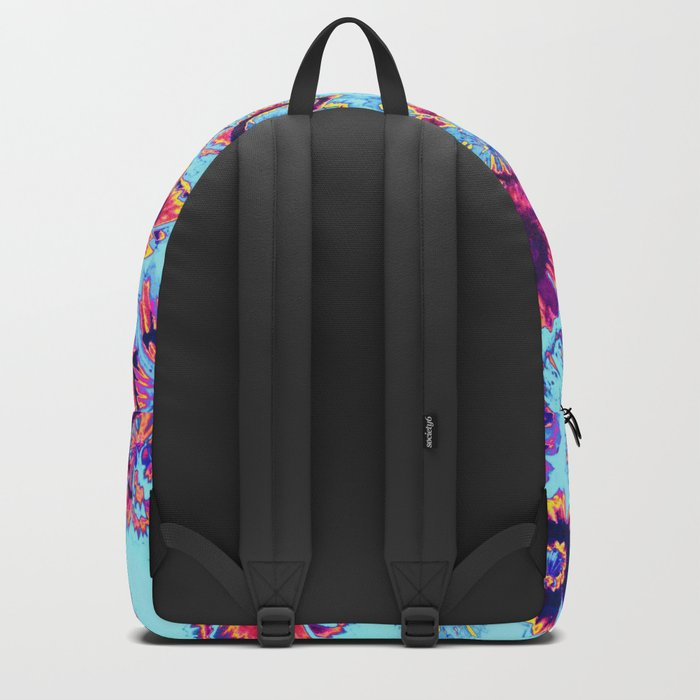 flowers on turquoise Backpack