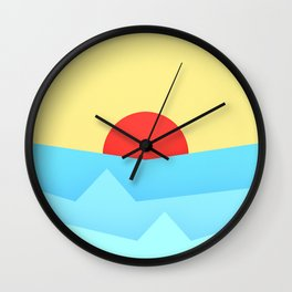 Childish Sunset Wall Clock