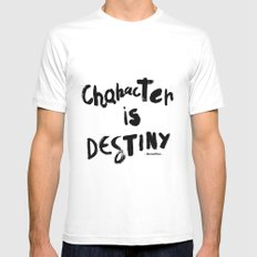Character Is Destiny - Heraclitus MEDIUM White Mens Fitted Tee