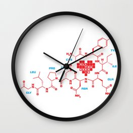 The chemistry of love Wall Clock