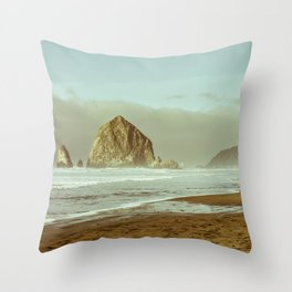 Oregon Coast, A Cannon Beach Dream Throw Pillow