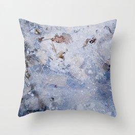 frozen lakes II Throw Pillow