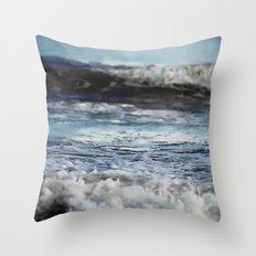 Blue 'tilt' wake Throw Pillow