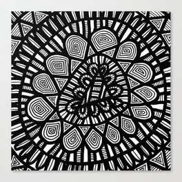 Black and White Doodle 7 Canvas Print