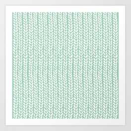 Knit Wave Mint Art Print