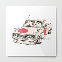 Crazy Car Art 0169 Metal Print