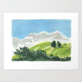 Waimea Hillside Art Print
