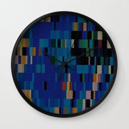 Navajo Blue and Beige Digi Fractal Wall Clock