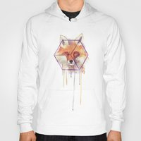 bonjour Hoodies featuring Bonjour Fox!! by Jesse Robinson Williams