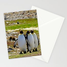 Marching King Penguins Stationery Cards