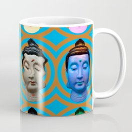 Buddha Heads Coffee Mug