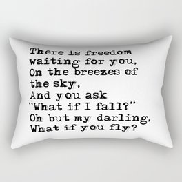 What if you fly? Vintage typewritten Rectangular Pillow