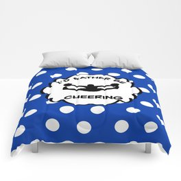 I'd Rather Be Cheering Design in Royal Blue Comforters