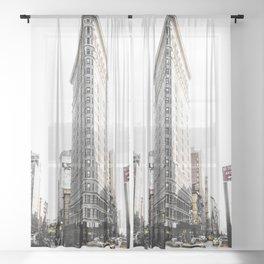 Desaturated New York Sheer Curtain