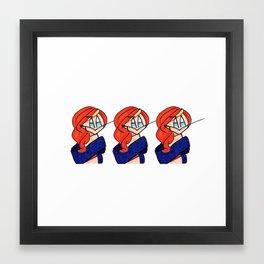 Ginger Spiceworld Framed Art Print