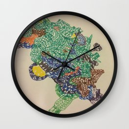 Crazy Face Pattern Wall Clock