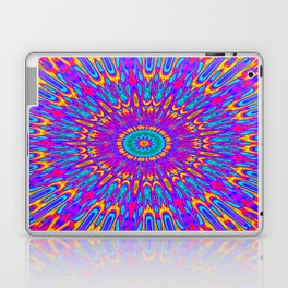 Happy Colors Explosion Psychedelic Mandala Laptop & iPad Skin