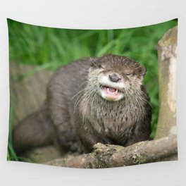 Smiling Otter Wall Tapestry