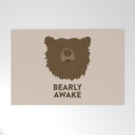 BEARLY AWAKE Welcome Mat