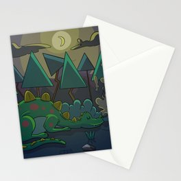 Dinasaur sleeping Stationery Cards