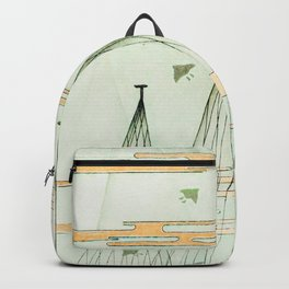 Watanabe Seitei - Chidori and Tree - Japanese traditional pattern design Backpack