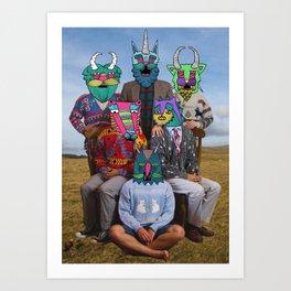 creatures family Art Print
