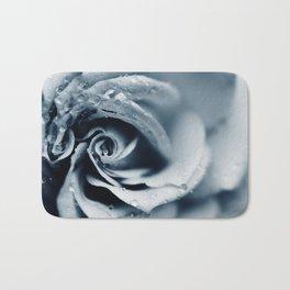 Rose - powder blue Bath Mat