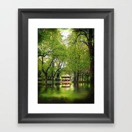 Forest Flood With Bandstand Framed Art Print
