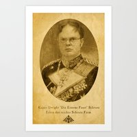 dwight Art Prints featuring Kaiser Dwight by ThePencilClub