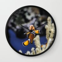 finding nemo Wall Clocks featuring Nemo by lulu althuwaini