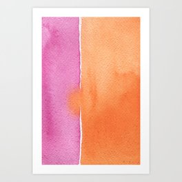 Summer in pink and orange Art Print