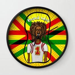 Rasta basket vibes Wall Clock