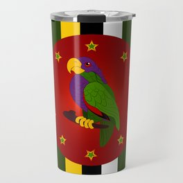 Dominica Flag Travel Mug