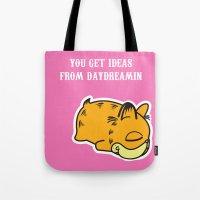 garfield Tote Bags featuring Daydream Nimbus - Garfield Tribute by PaulusHyu