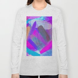 pink brown purple blue painting abstract background Long Sleeve T-shirt